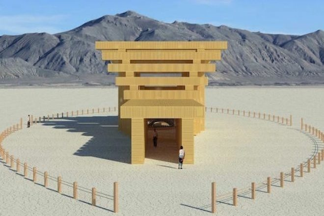 Burning Man 2019 Yılı İçin Japon Tapınağından Esintiler Taşıyan Alan Tasarımını Paylaştı