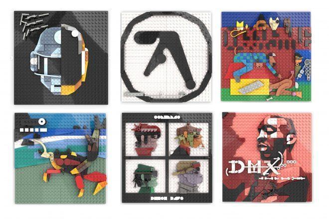 Daft Punk, Gorillaz ve Aphex Twin'in albüm kapakları LEGO ile yeniden yaratıldı