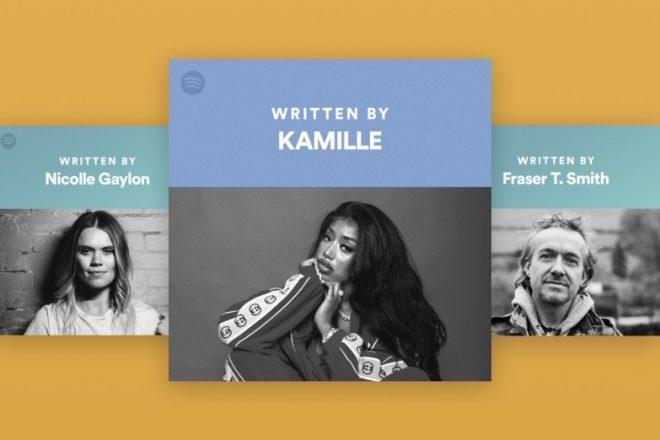 Spotify'a söz yazarı sekmesi eklentisi